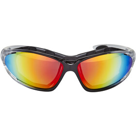 XLC Reunion SG-F05 Brille, transparent/red mirrored